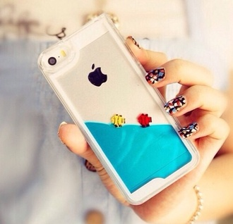 fish iphone case white jewels phone cover romper bag iphone 5c ocean