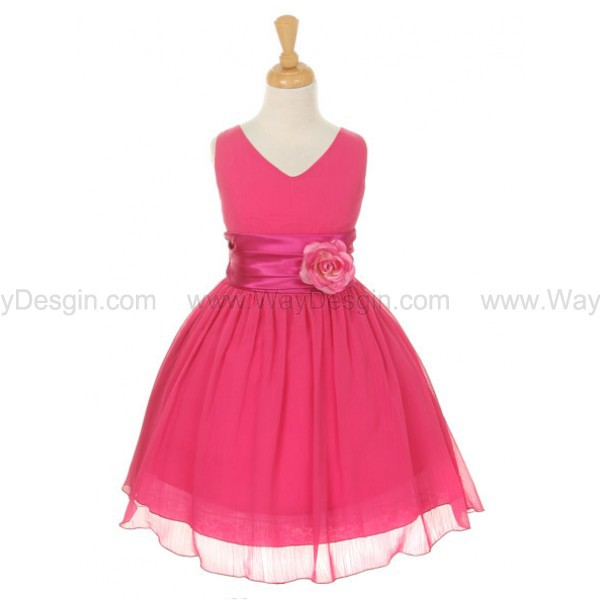 fuchsia flower girl dresses flower girls dresses