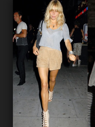 shorts crop tops sienna miller grey t-shirt suede