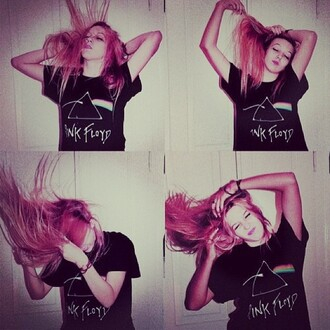 shirt pink floyd shirt grunge black t-shirt
