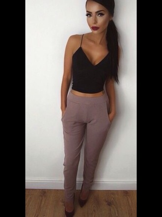 pants trouser classy nude clothes outfit night outfit