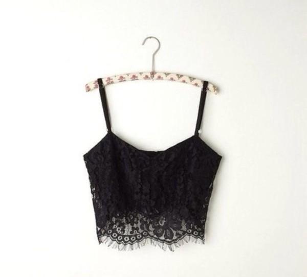 tank top black lace