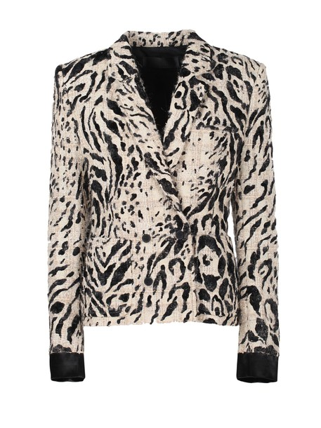 Haider Ackermann Leopard Pattern Blazer in black / cream