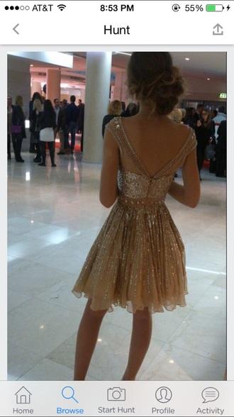 dress gold sequins gold sequin dress gold dress vback backout formal dress party dress sparkly dress