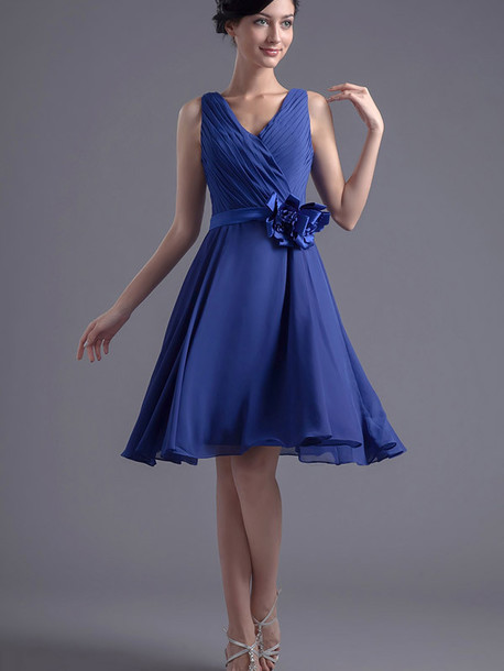Dress: blue dress- party dress- prom dress- evening dress- party ...