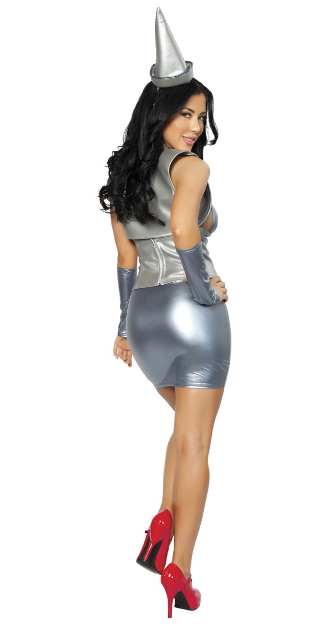 Sexy Metal Miss Tin Man Tin Woman Wizard of Oz Costume 4264
