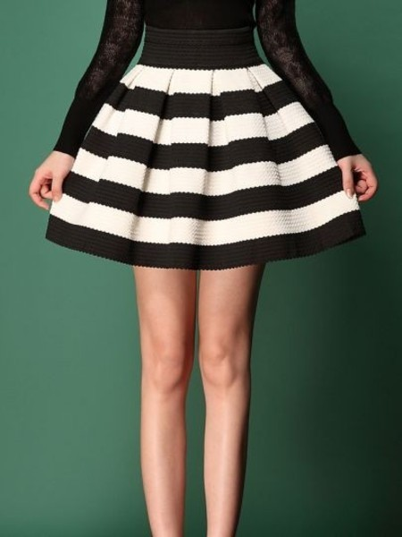 Vintage strip skirt