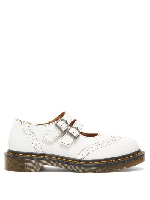 Comme Des Garçons Comme Des Garçons - X Dr Martens Dolly Buckled Leather Brogues - Womens - White