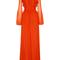 Silk ruffled empire dress by giambattista valli | moda operandi