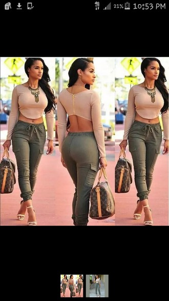 pants joggers joggers pants olive green womens linen trousers cute casual bottoms