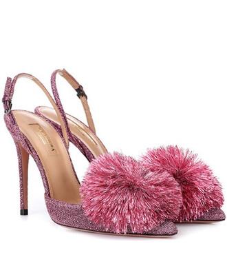glitter pumps pink shoes