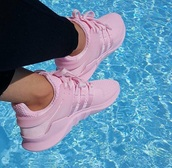 shoes,light pink trainers,trainers,adidas