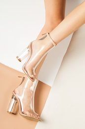 shoes,booties,clear,clear boots,clear heels