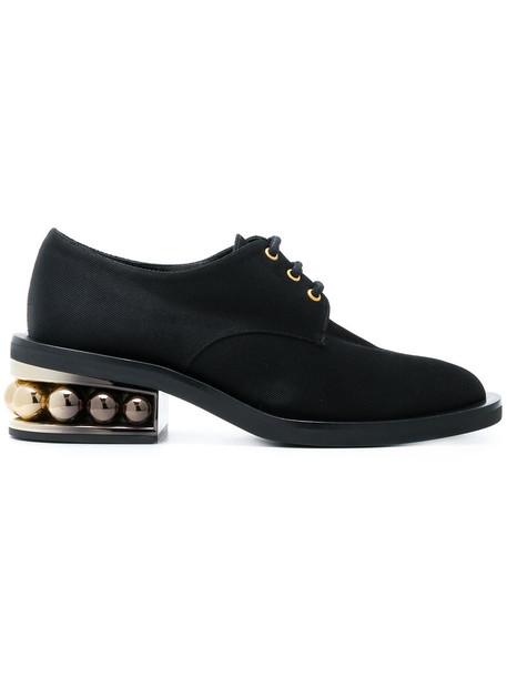 Nicholas Kirkwood women pearl shoes leather cotton black