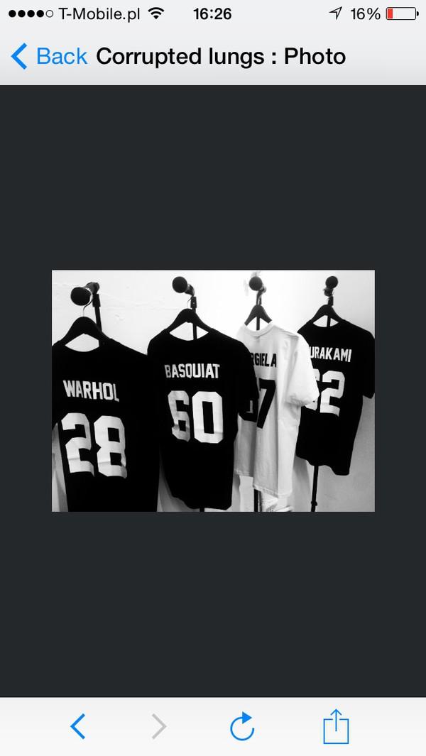 t-shirt warhol black white tshirt sport