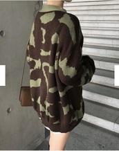 sweater,girly,girly wishlist,girl,oversized sweater,oversized,camouflage