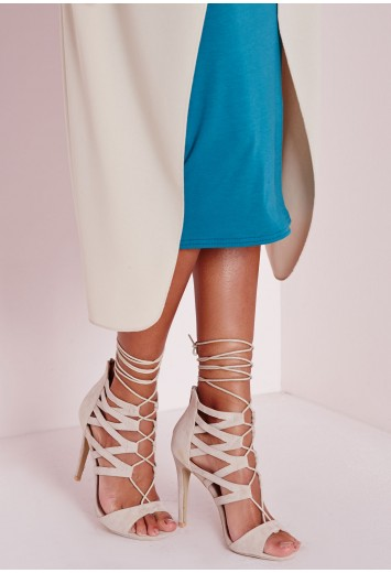 Missguided - Strappy Heeled Sandals Nude