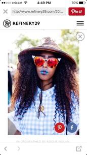 sunglasses,orange,yellow,cat eye,edgy,afropunk,round sunglasses,iridescent