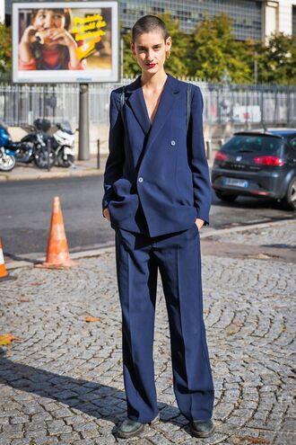 pants blazer suit blue suit shoes
