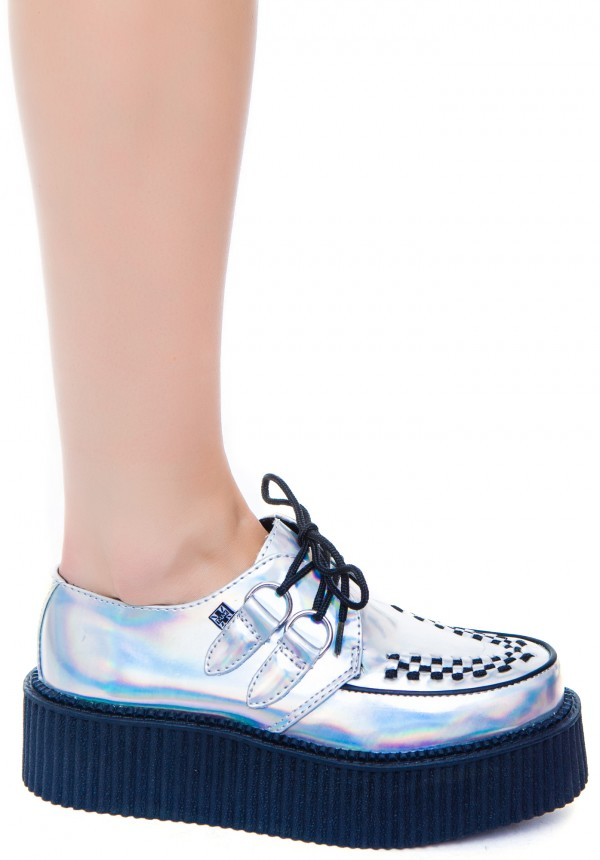 T.U.K. Iridescent Round Creeper | Dolls Kill