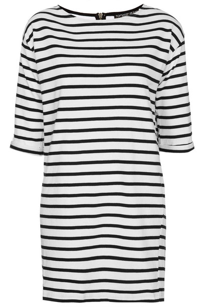 dress stripes fashion tunic dress