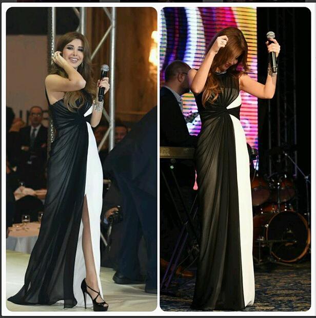 2016 Nancy Ajram Evening Dresses Arabic Celebrity Dress Black And ...