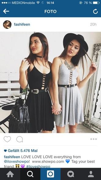 dress grey dress black dress