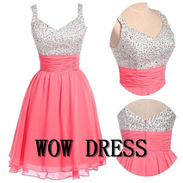 short prom dress short party dress short evening dress short  bridesmaid dress party dress 2014 party dress coral bridesmaid dress coral party dress coral evening dress evening dress 2014 2014 evening dress coral prom dress prom dress 2014 prom dress dress