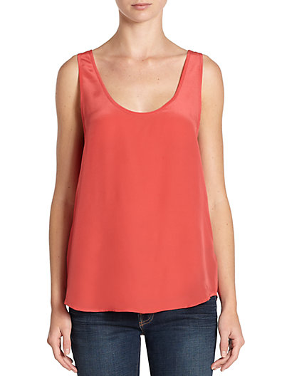 French Connection - Spring Silk Georgette Blouse - Saks.com