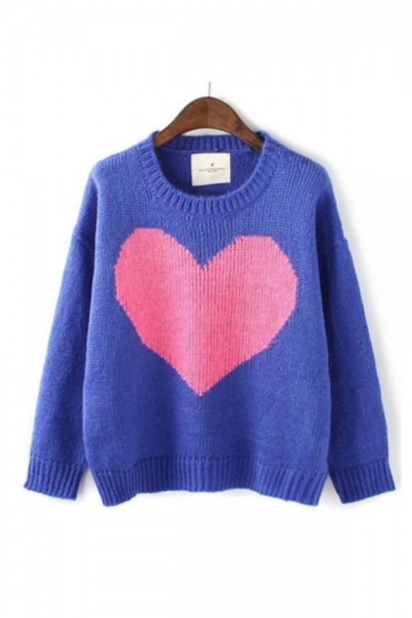 sweater persunmall persunmall sweater blue sweater warm sweater clothes