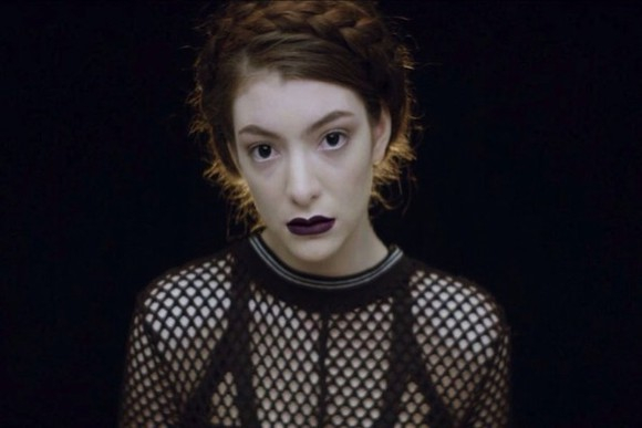 sweater top fishnet black mesh sheer jumper lorde goth indie edgy pullover