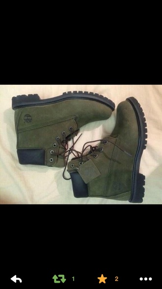 timberland army green