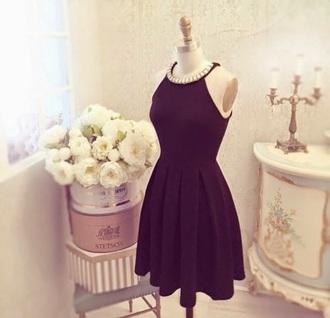 dress black diamonds pearl