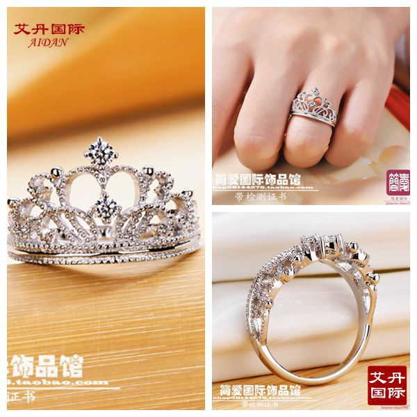 star wedding silver ct ring art solid diamond pcs style vintage deco victorian aliexpress peacock cz set item sterling simulated rings