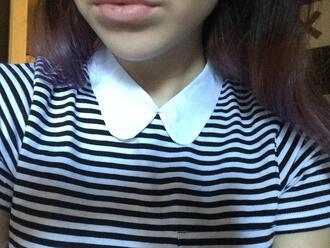 blouse stripes peter pan collar acacia brinley collared shirts