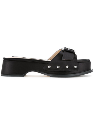 women sandals leather black shoes