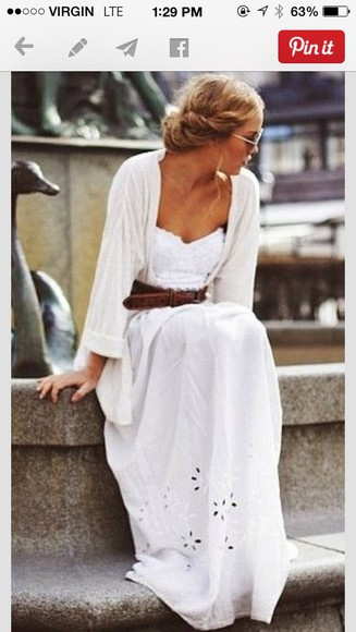 cut-out dress white dress