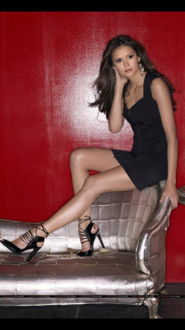 Dress Nina Dobrev Black Little Black Dress Lbd Tube
