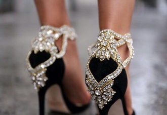 shoes glitter heels black heels high heels shiny glamour elegant gorgeous fashion