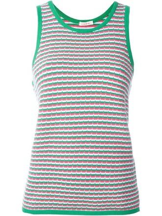 tank top top women spandex cotton green