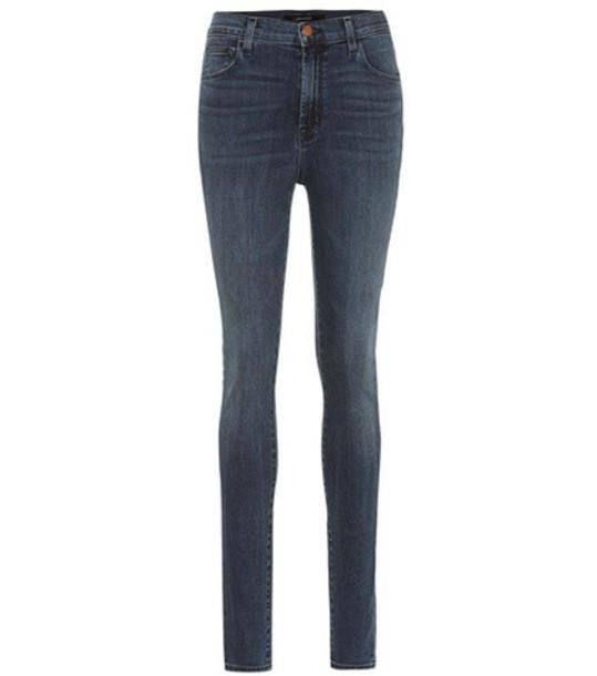 J BRAND jeans skinny jeans high blue