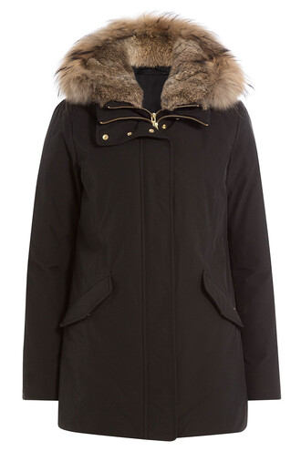 parka fur black coat