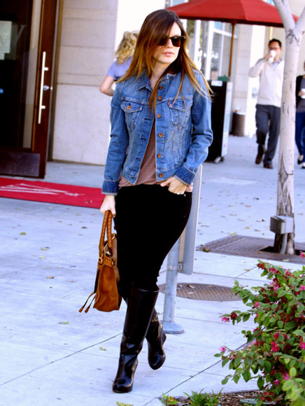 rachel bilson jacket denim denim jacket