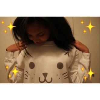 cute kawaii cats japan harajuku sweater