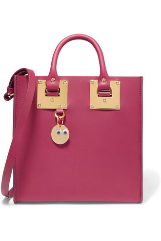 leather plum bag