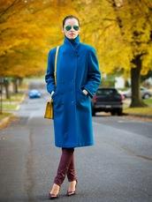 bittersweet colours,coat,bag,jeans,shoes,sunglasses