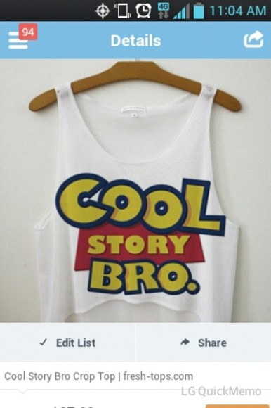toy story blouse white blue yellow cool story bro tank