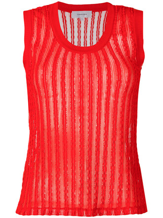 top ribbed top women spandex cotton red