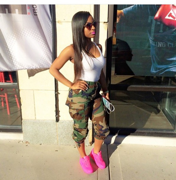 Pants Camouflage Army Green Army Pants Army Print Army Cargos