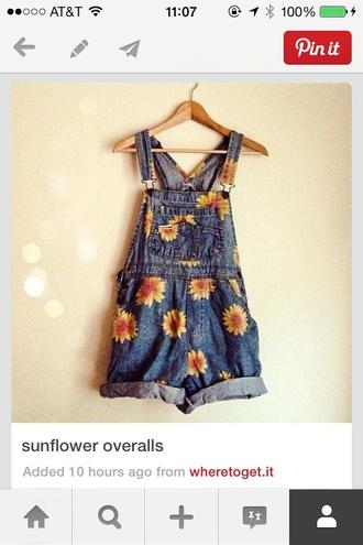 denim jeans summer outfits jumpsuit overalls sunflower sunflower overalls denim overalls
